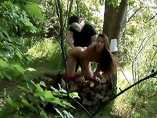 Ass, Couple, Cute, Fetish, Forest, Hardcore, Nature, Outdoor, Striptease,