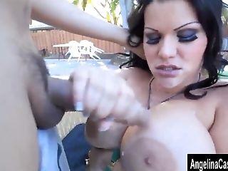 Angelina Castro, BBW, Blowjob, Cumshot, Ethnic, HD, Latina, Pool,