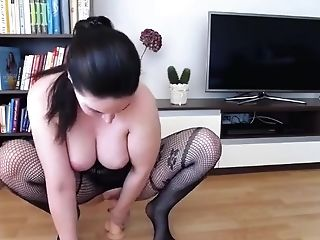Amateur, Babe, Big Tits, Dildo, Fake Tits, Fishnet, Lingerie, Model, Pantyhose, Sex Toys,