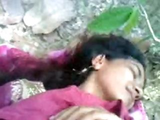 Babe, Clothed Sex, Couple, Forest, Hardcore, High Heels, Indian, Natural Tits, Outdoor, Pussy,
