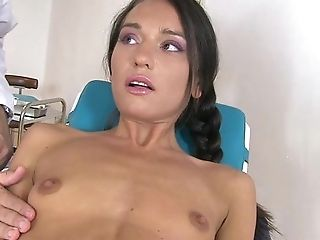 BDSM, Bold, Bondage, Boobless, Brunette, Choking Sex, Clinic, Couple, HD, Masturbation,
