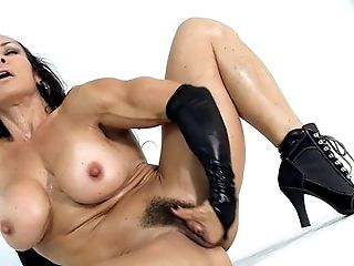Babe, Big Tits, Black, Boots, Brunette, Female Bodybuilder, Hairy, HD, MILF, Muscular,