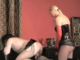 Blonde, Boots, Corset, Fetish, Latex, Mistress, Shemale, Strapon, Submissive,