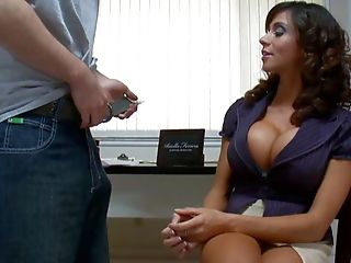 Ariella Ferrera, Big Tits, Blowjob, Brunette, Clothed Sex, Dick, MILF, Mistress, Office, Tanned,