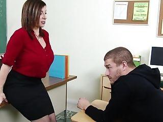 American, Big Tits, Bobcat, Boy, Classroom, College, Cougar, Desk, Lingerie, MILF,