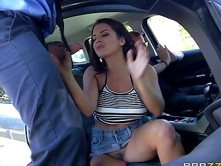 Ass, Big Cock, Blowjob, Car, Face Fucking, Handjob, Hardcore, High Heels, Missionary, Mmf,