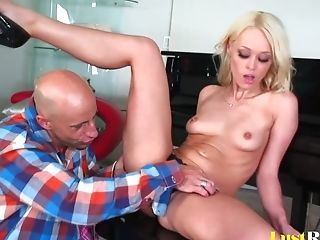 Blonde, Boobless, Bukkake, Couple, Cowgirl, Cum Swallowing, Cumshot, Doggystyle, Facial, Fingering,