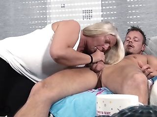 Aunt, Blowjob, Mature, Old And Young,