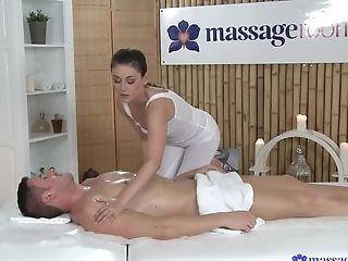 Boobless, Brunette, College, Eva Strauss, Massage, Pornstar,