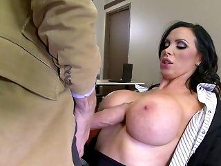 Big Tits, Blowjob, Boss, Brunette, Cumshot, Cunt, Deepthroat, Fake Tits, Hardcore, HD,