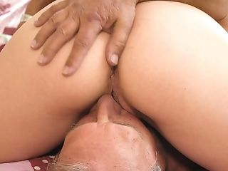 69, Babe, Bedroom, Blonde, Blowjob, Cum In Mouth, Cumshot, Daddies, Doggystyle, Grandpa,