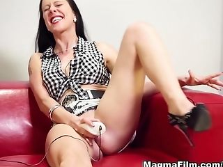 Big Tits, Brunette, Cumshot, Dildo, German, Maria Mia, Masturbation, MILF, Pornstar, Sex Toys,