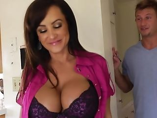 Ass, Boy, Brunette, Cougar, Cumshot, Delivery Guy, Facial, Hardcore, Lisa Ann, MILF,