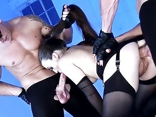 Babe, Big Cock, Blowjob, Clamp, Close Up, Doggystyle, Gorgeous, Goth, Handjob, Hardcore,