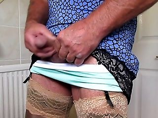 Amateur, HD, Jerking, Lingerie, Masturbation, Nylon, Skirt, Solo, Stockings,