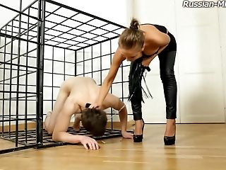 Abuse, BDSM, Black, Cage, Cute, Femdom, Fetish, Leather, Mistress, Spanking,