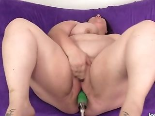 Babe, BBW, Fat, Fucking Machine, Horny, Masturbation, Solo,