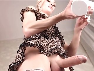 Big Cock, Blonde, Cute, Masturbation, Shemale, Tranny,