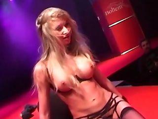Babe, Blonde, Booty Shaking, Club, Cute, Flexible, Long Hair, Natural Tits, Public, Sex Toys,