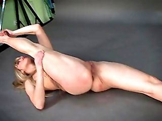 Ass, Cute, Flexible, Long Hair, Model, Natural Tits, Pussy, Russian, Shaved Pussy, Solo,