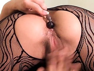 Anal Beads, Babe, Black, Clamp, Female Bodybuilder, HD, Muscular, Solo,