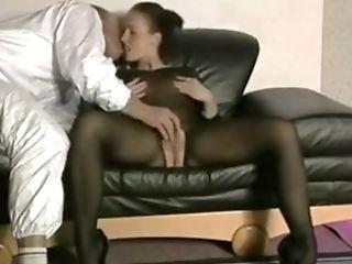 Mamada, Malla De Cuerpo Entero, Topless, Morena,