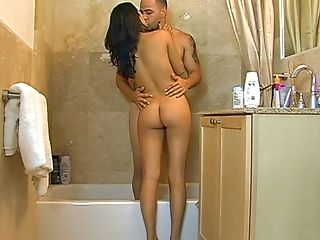 Amateur, Bathroom, Blowjob, Boobless, Brunette, Cute, From Behind, Moaning, Nikki Price, Shower,