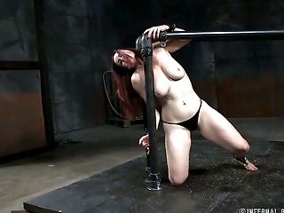 Babe, BDSM, Ginger, Handcuffed, Pain, Panties, Redhead, White,