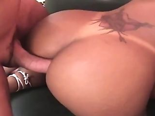 Anal Sex, Ass, Babe, Brunette, Dick, Hardcore, Sexy, Shemale, Tattoo,