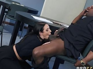 Angela White, Babe, Ball Licking, Big Black Cock, Big Cock, Big Tits, Blowjob, Couple, Cowgirl, Fake Tits,