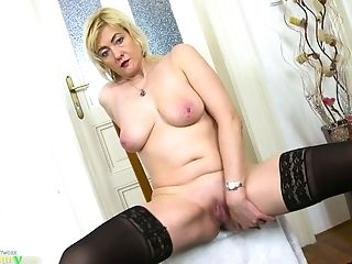 Big Tits, Blonde, Bold, Fingering, Granny, HD, Jerking, Lingerie, Mature, Nurse,
