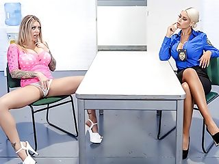 American, Babe, Big Ass, Big Tits, Blonde, Caucasian, Cop, Fake Tits, Felching, Fishnet,