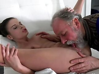 Blowjob, Bold, Brunette, Cumshot, Doggystyle, Hardcore, Old, Old And Young, Pool, Teen,
