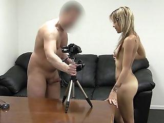 18, Amateur, Babe, Beauty, Blonde, Casting, Cumshot, Cute, Desk, Facial,