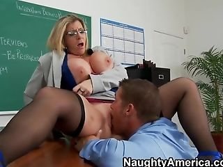 Big Cock, Big Tits, Blonde, Blowjob, Classroom, Cunnilingus, Erotic, HD, Sara Jay, Teacher,